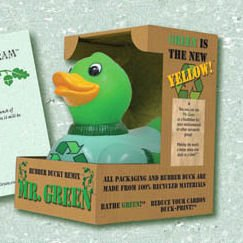 CelebriDucks - Mr. Green 100% Recycled Rubber Duck